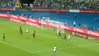 Aristide Bance scores in the match Burkina Faso vs Egypt
