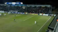 Luca Marrone scores in the match Eupen vs Waregem