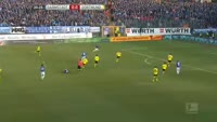 Terrance Boyd scores in the match Darmstadt vs Dortmund