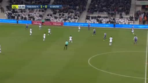 Toulouse CA Bastia goals and highlights