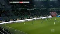 Maximilian Arnold scores in the match Wolfsburg vs Hoffenheim