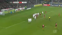 Maximilian Philipp scores in the match Freiburg vs Koln