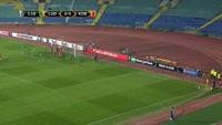 Anicet Abel scores own goal in the match Ludogorets vs FC Copenhagen