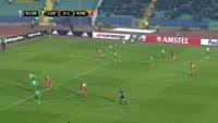 Youssef Toutouh scores in the match Ludogorets vs FC Copenhagen
