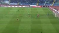 Claudiu Keseru scores in the match Ludogorets vs FC Copenhagen