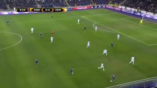 Anderlecht Zenit Petersburg goals and highlights
