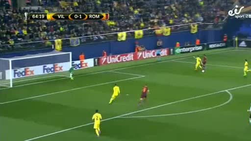 Villarreal AS Roma goals and highlights