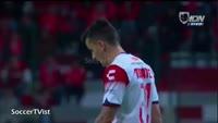 Andy Garcia scores in the match Toluca vs Veracruz