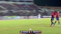 Nestor Yair Olguin Leyva scores in the match Cimarrones de Sonora vs Correcaminos