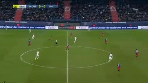 Caen Lille goals and highlights