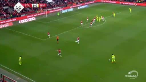 Standard Liege Gent goals and highlights