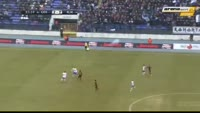 Franko Andrijasevic scores in the match Osijek vs Rijeka