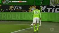 Borja Mayoral Moya scores in the match Wolfsburg vs Werder Bremen