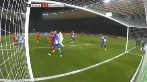Hertha Berlin Eintracht  Frankfurt goals and highlights