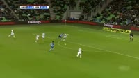 Yassine Ayoub scores in the match Groningen vs Utrecht