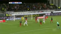 Dico Koppers scores in the match Excelsior vs Willem II