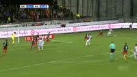 Erik Falkenburg scores in the match Excelsior vs Willem II