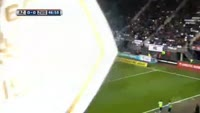 Ryan Thomas scores in the match AZ Alkmaar vs Zwolle
