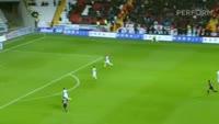 Sefa Yilmaz scores in the match Gaziantepspor vs Fenerbahce