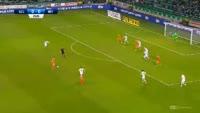 Samuel Stefanik scores in the match Legia vs Termalica Bruk-Bet