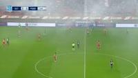 Georgios Masouras scores in the match Olympiakos Piraeus vs Panionios