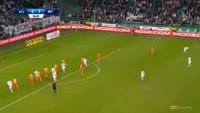 Miroslav Radovic scores in the match Legia vs Termalica Bruk-Bet