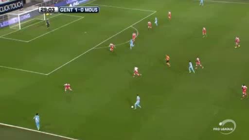 Gent Mouscron Peruwelz goals and highlights