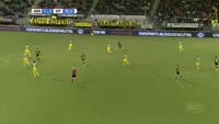 Adnane Tighadouini scores in the match Den Haag vs Vitesse