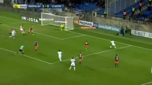 Montpellier CA Bastia goals and highlights