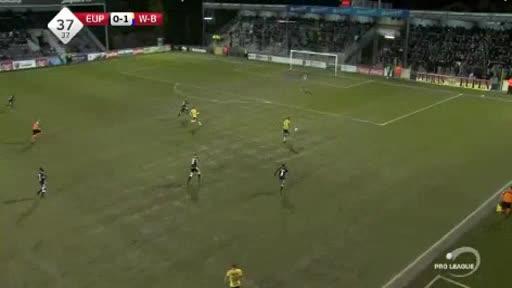 Eupen Waasland goals and highlights