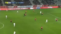 Jeremie Aliadiere scores in the match Lille vs Lorient