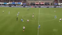 Nicolai Brock-Madsen scores in the match Sparta Rotterdam vs Zwolle