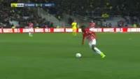 Julien Cetout scores in the match Nantes vs Nancy