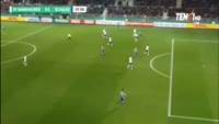 Alessandro Schopf scores in the match Sandhausen vs Schalke