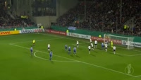 Naldo scores in the match Sandhausen vs Schalke