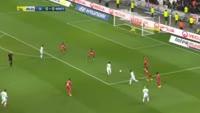 Mathieu Valbuena scores in the match Lyon vs Nancy