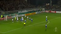 Evgen Konoplyanka scores in the match Sandhausen vs Schalke
