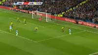 Leroy Sane scores in the match Manchester City vs Huddersfield