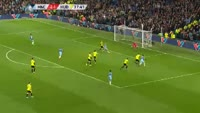 Pablo Zabaleta scores in the match Manchester City vs Huddersfield