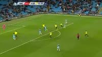 Kelechi Iheanacho scores in the match Manchester City vs Huddersfield