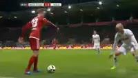 Romain Bregerie scores in the match Ingolstadt vs Koln