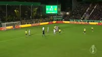 Marcel Schmelzer scores in the match Lotte vs Dortmund