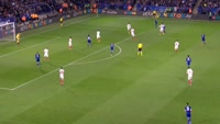 Marc Albrighton scores in the match Leicester vs Sevilla