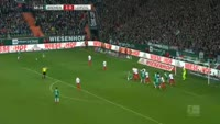 Florian Grillitsch scores in the match Werder Bremen vs RB Leipzig