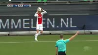 Justin Kluivert scores in the match Excelsior vs Ajax