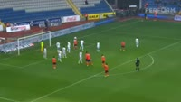Emmanuel Adebayor scores in the match Basaksehir vs Kardemir Karabuk