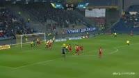 Jeppe Kjaer scores in the match Brondby vs Lyngby
