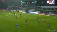 Federico Santander scores in the match Silkeborg vs FC Copenhagen