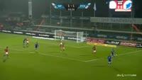 Andreas Cornelius scores in the match Silkeborg vs FC Copenhagen
