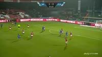 Uros Matic scores in the match Silkeborg vs FC Copenhagen